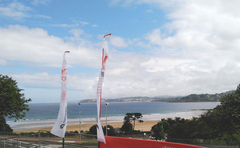 Vista de la playa de Bastiagueiro des de la oficina de Prado Surf