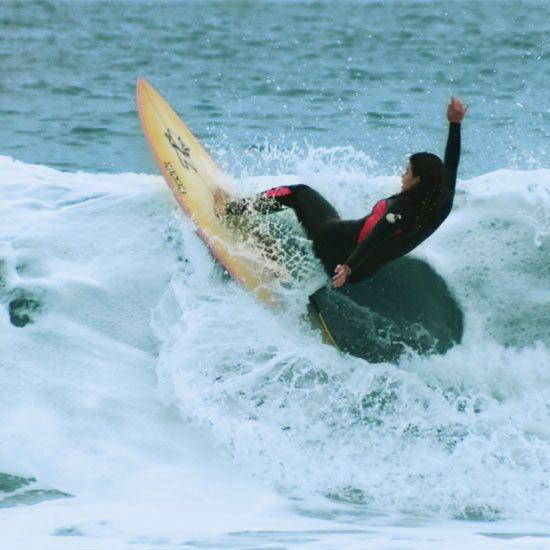 Laura Soto monitora Prado surf