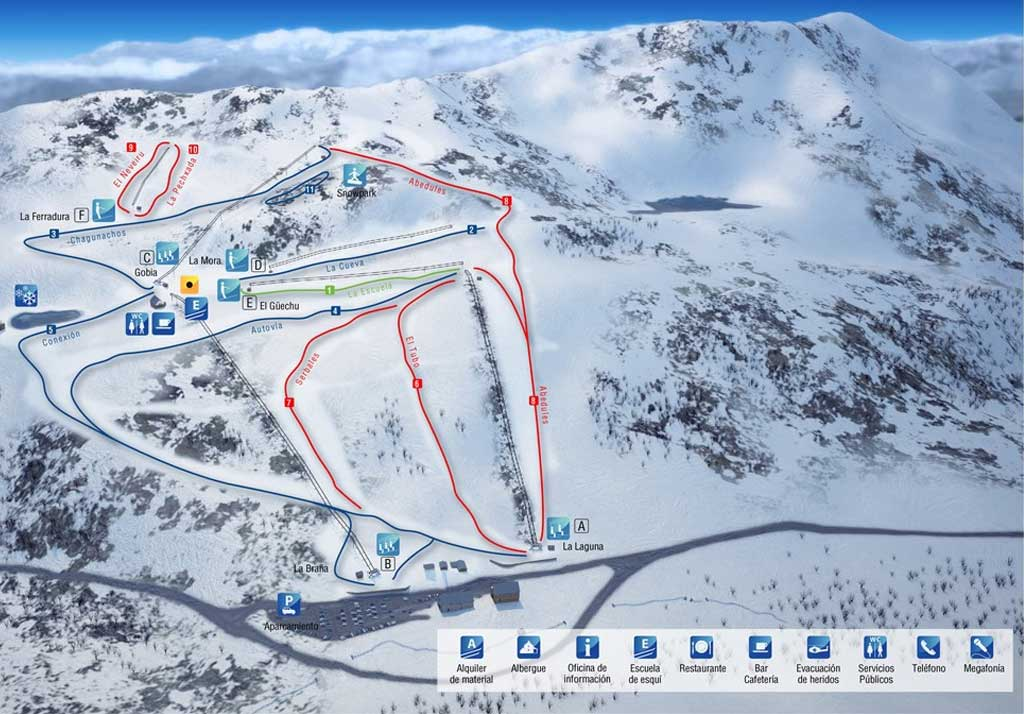 Mapa pistas de esquí de Leitariegos