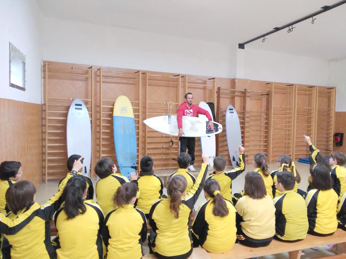 clases de surf escuela. partes de una tabla de surf